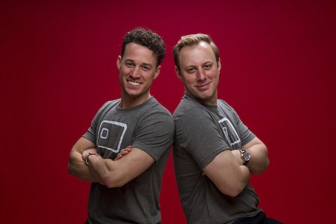 Michael Seaman, left, and co-founder Stephen Seaman. - COURTESY OF SWIPESUM
