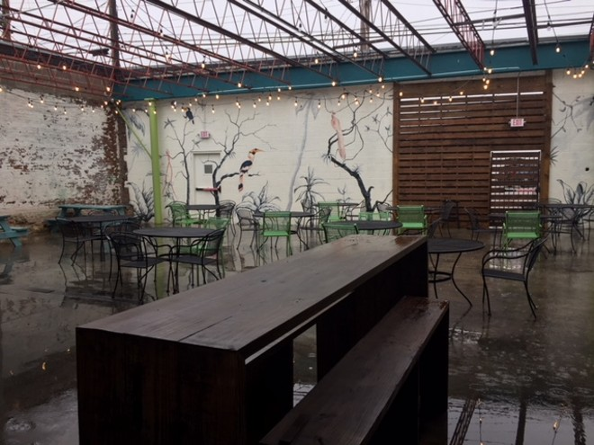 The patio has a distinctly New Orleans feel. - SARAH FENSKE