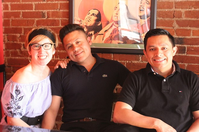 From left, Michelle and Javier Geminiano and Javier's brother Jesus Jaimes. - SARAH FENSKE