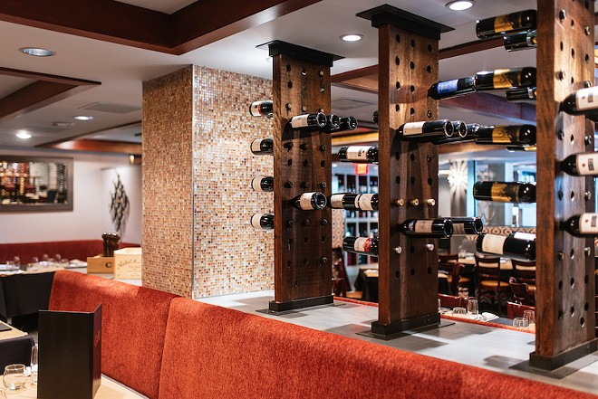 At Copia, wine isn't just on the list. It's a decorative feature. - SPENCER PERNIKOFF
