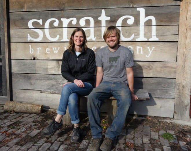 Marika Josephson and Aaron Kleidon of Scratch Brewing Company. - COURTESY OF SCRATCH BREWNG COMPANY