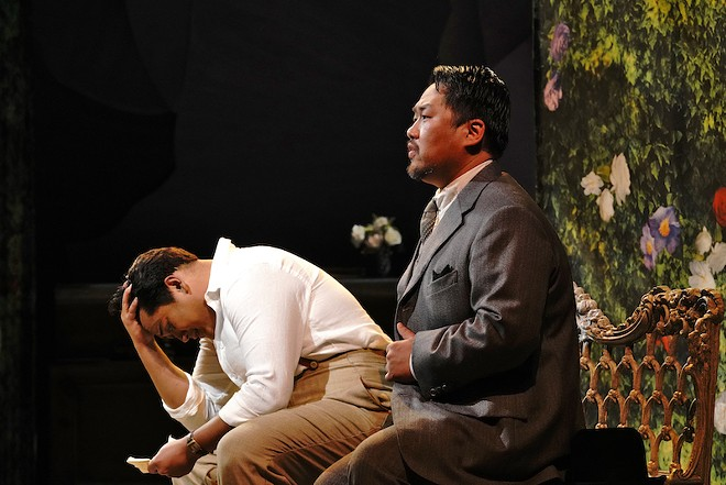 Geoffrey Agpalo and Joo Won Kang capably play a divided son and father. - COURTESY OF OPERA THEATRE ST. LOUIS