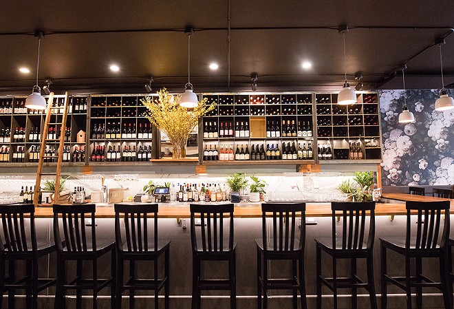 Seats at the bar are reserved for walk-in diners. - MABEL SUEN
