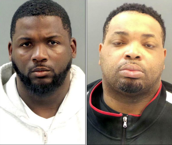 Lamonte Brown, left, and Jason Holmes: on the lam. - VIA ST. LOUIS POLICE
