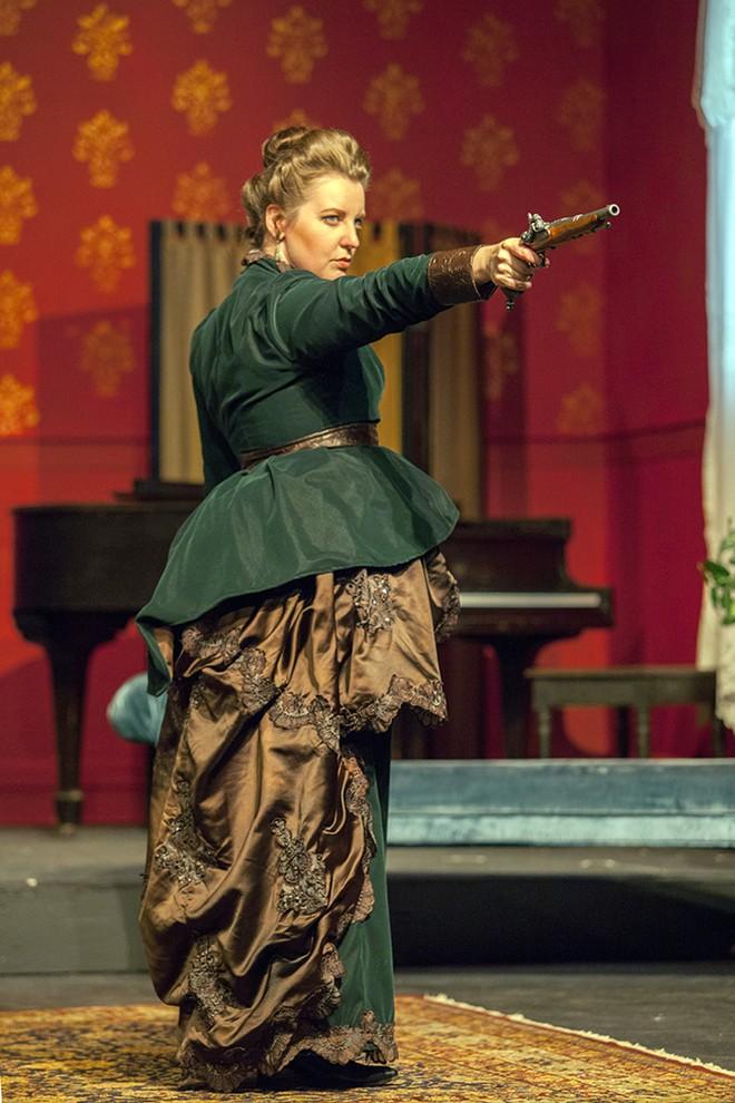 As Hedda, Nicole Angeli gives the performance of her career. - JOHN LAMB