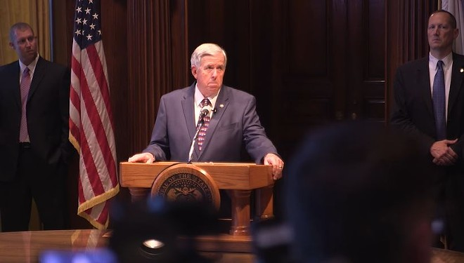 Governor Mike Parson hasn't signed an anti-abortion regulation into law yet. But it's already in effect. - SCREENSHOT VIA YOUTUBE