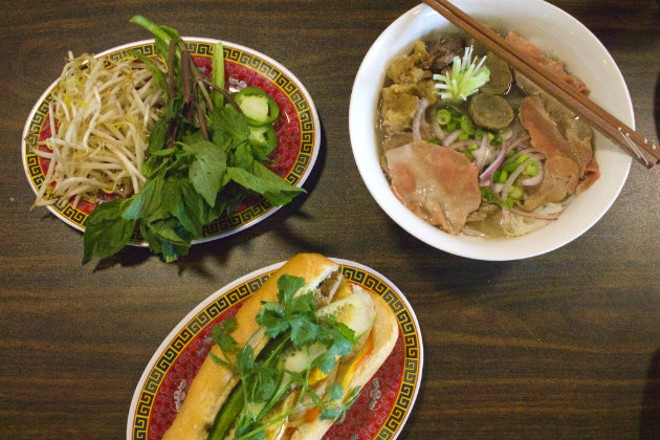 A bánh mì and rare beef pho from the Spot House. - CHERYL BAEHR