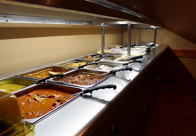 The buffet is kept fresh and has many different options for guests to sample. - LEXIE MILLER