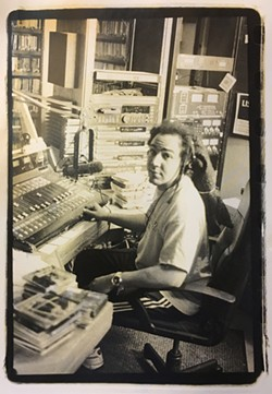 Doug Morgan, host of KDHX's The Record Sto' in an undated photo. - BOB REUTER