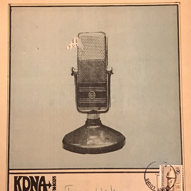 The cover of the February 1972 edition of Fat Chance, the monthly program guide of KDNA 102.5 FM, the community station that preceded KDHX. - COURTESY OF KDHX ARCHIVE