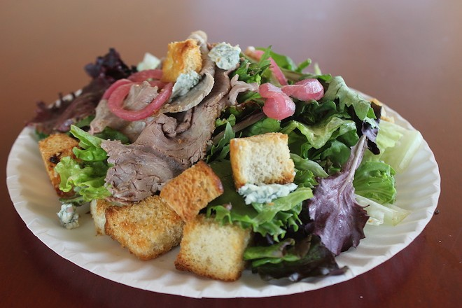 A beef salad ($8.50). - SARAH FENSKE