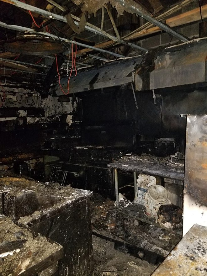 Another photo of the ruined kitchen. - COURTESY OF LAUREN ZYCH