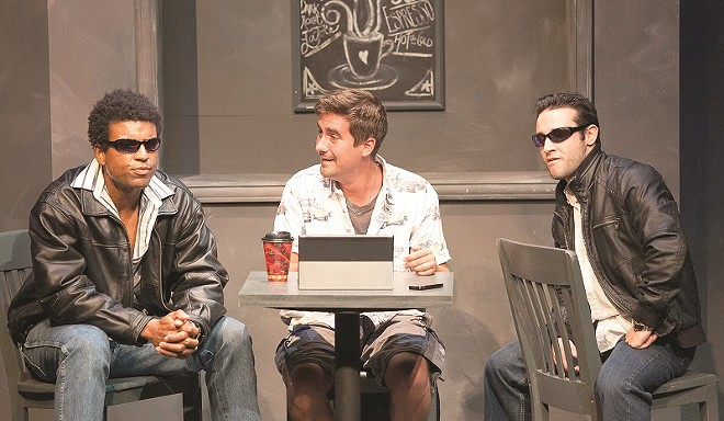 """A scene from """"How's Bruno,"""" one of the plays in the 2017 LaBute New Theater Festival. - JOHN LAMB"""