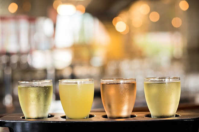 Cider is the name of the game here, with four styles currently on tap. - MABEL SUEN