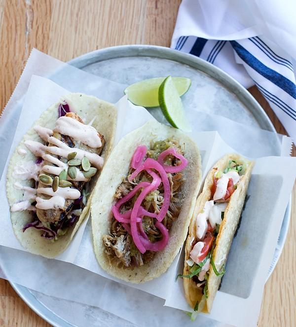 Tacos at the original Gringo. - JENNIFER SILVERBERG