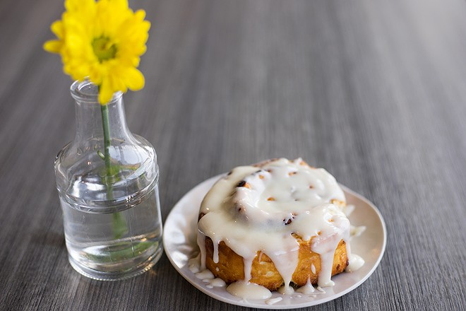 The cinnamon roll is the best thing at the restaurant, hands down. - MABEL SUEN