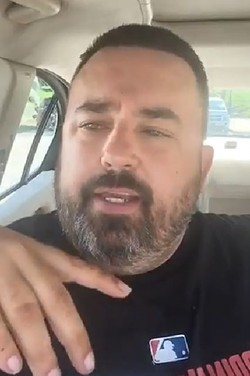 Anthony Greene, the trucker behind Truckers Against Predators. - SCREENSHOT VIA FACEBOOK