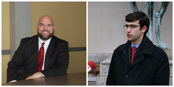 David Roland, left (photo by Sarah Fenske) and Aaron Malin, right (courtesy of Aaron Malin).