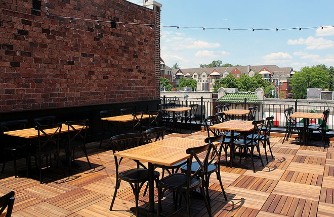 The rooftop patio. - LEXIE MILLER
