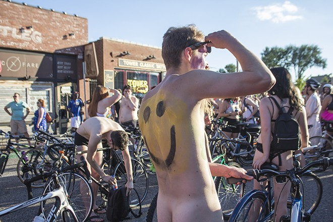 Yes, the World Naked Bike Ride features some nudity. - SARA BANNOURA