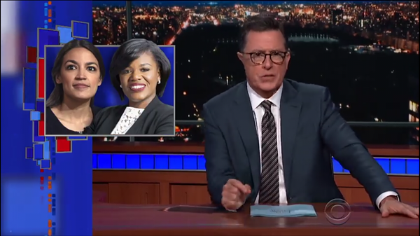 SCREEN GRAB FROM THE LATE NIGHT WITH STEPHEN COLBERT VIDEO