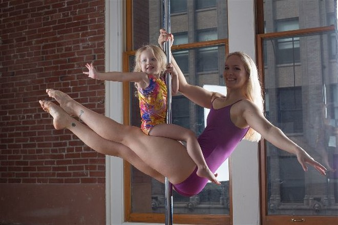 Lindsey Teall and her daughter Laura, dancing together. - PROVIDED BY THE FAMILY