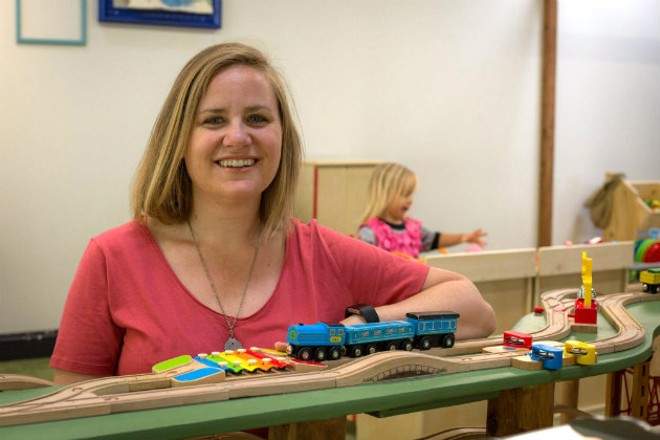 Megan King-Popp is creating a sanctuary for kids and adults alike at Urban Fort. - MONICA MILEUR