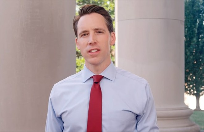 Josh Hawley, champion of obscure laws violating the First Amendment. - SCREENSHOT