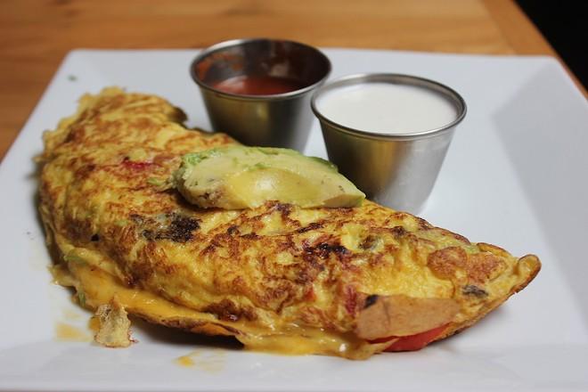 The veggie omelet. - SARAH FENSKE