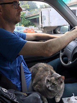 Lucy and I on the road from Brooklyn, New York to St. Louis. - COURTESY JENNA MURPHY