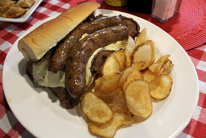 The Chicago sandwich served with homemade kettle chips. - LEXIE MILLER