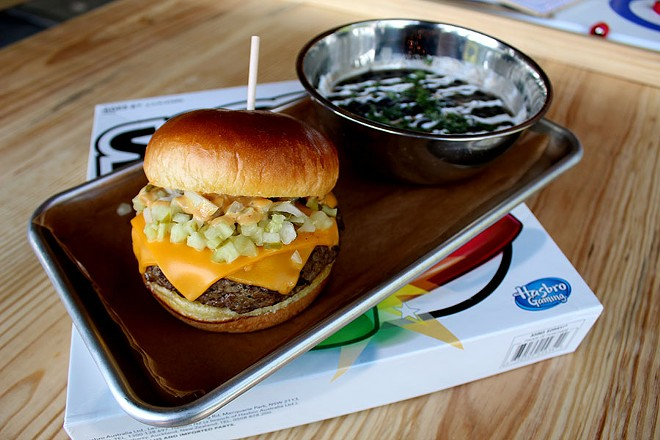 """The """"Big Cheese"""" with American cheese, onions, pickles and their special sauce ($10). - LEXIE MILLER"""