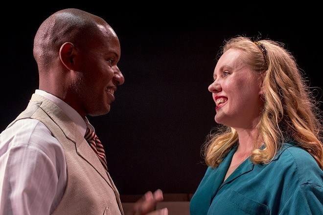 Fabrizio (Tielere Cheatem) and Clara (Macia Noorman) fall in love in Italy, and only their families can keep them apart in The Light in the Piazza. - COURTESY OF R-S THEATRICS