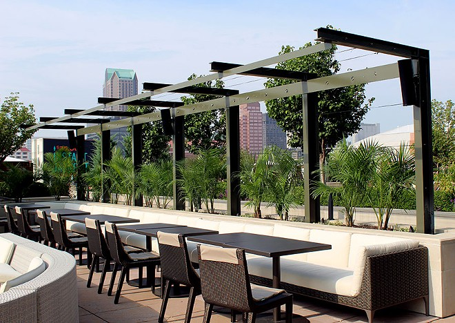 The outdoor dining area. - LEXIE MILLER