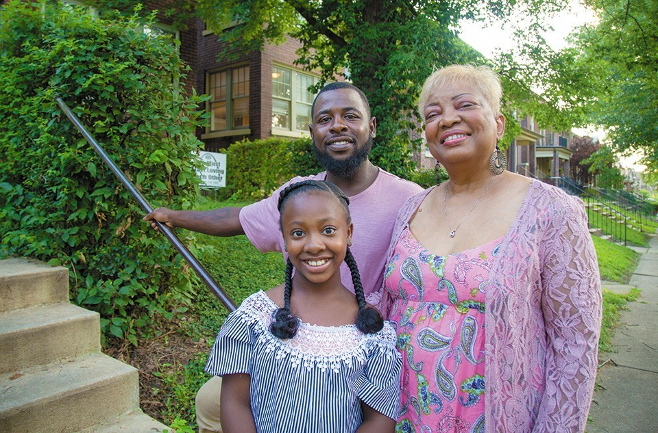 Ariel Gibson, with father Leon Gibson and grandmother Cynthia Wren, is one of the 2,488 students who applied to VICC last year.