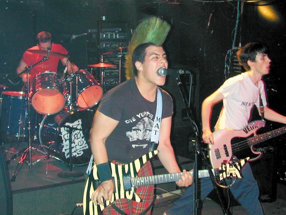 Nineteen performing in its prime. That's Mat Wilson sporting a mohawk.