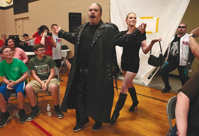 State house candidate Curtis Wylde, shown here in his wrestling persona. - ZIA NIZAMI