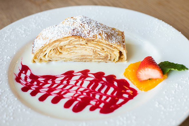 Strudel might be the one thing on this menu you actually want to eat. - MABEL SUEN