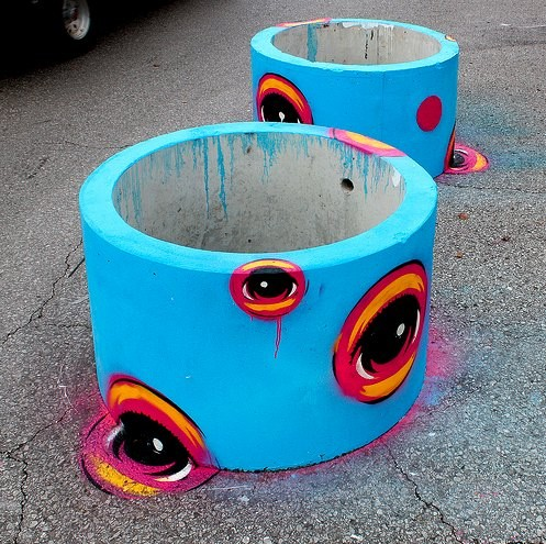 "S. Grand's ""parking pots"" are already amazing but what about the sidewalk? - IMAGE BY PEAT WOLLAEGER VIA FLICKR"