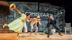 The Purlie cast sings and dances its way to outwitting plantation owner Ol' Cap'n. - PHOTO: PHILLIP HAMER