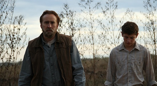 Nicolas Cage and Tye Sheridan in Joe.
