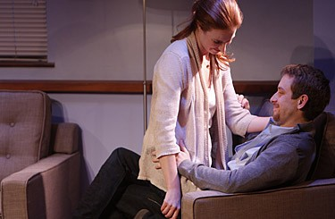 Leigh Williams and Alex Hanna in the Rep's A Kid Like Jake. - JERRY NAUNHEIM JR.