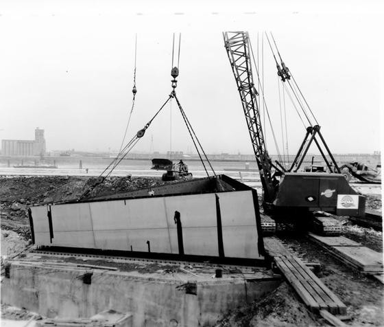 The first stainless steel section put in place on February 12, 1963 - VIA FACEBOOK