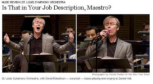 David Robertson makes his Carnegie Hall singing and kazoo-playing debut. - THE NEW YORK TIMES
