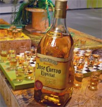 Jose Cuervo around the art.