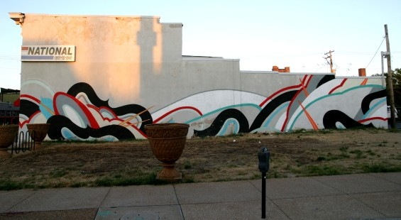 Ruben Aguirre's mural at Cherokee and Texas - PHOTO BY NICHOLAS PHILLIPS