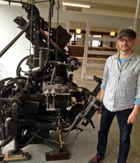 Eric Woods with his 3,000-pound type caster.