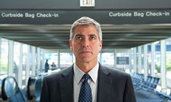 A still for Up in the Air features Goerge Clooney at Lambert Field.