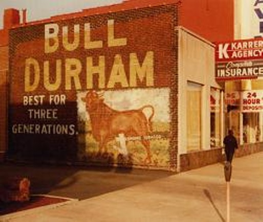 A sign in Collinsville snapped back in 1983. (Images courtesy of The Painted Ad).