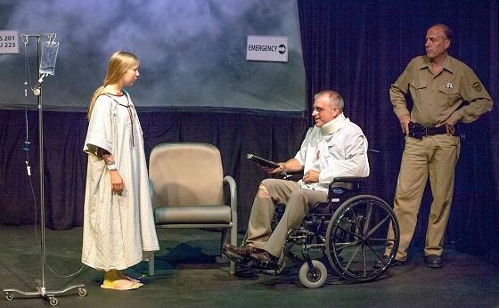 Caroline Adams, Chopper Leifeit and GP Hunsaker in Susan Steadman's The Thing with Feathers. - JOHN LAMB